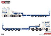 WSI Bierings DAF XF 8x4 with Nooteboom MCO-PX 5-AXLE Low loader (Pre Order)